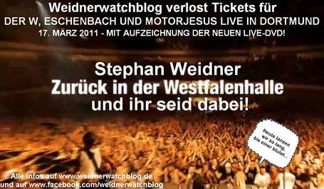 Weidnerwatchblog verlost Tickets für das Dortmund-Konzert