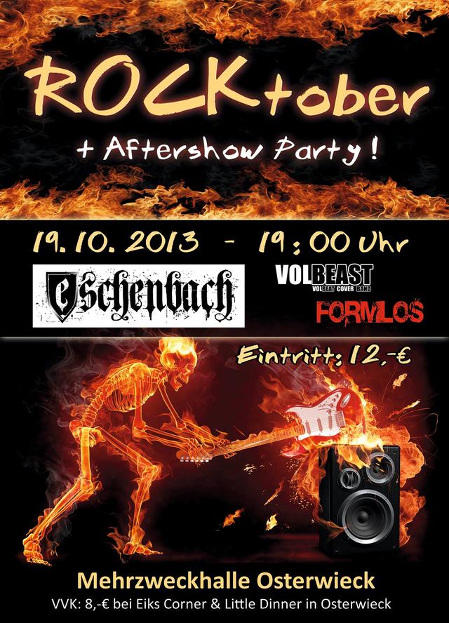 Rocktober mit Eschenbach, Formlos und Volbeast