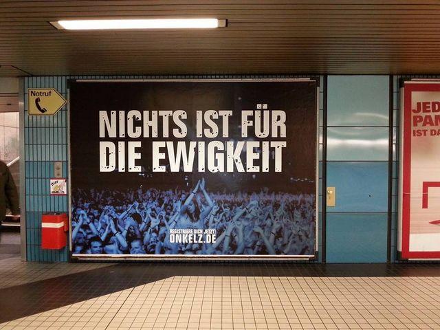 Onkelz-Plakat in Köln