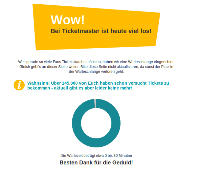 Screenshot Ticketmaster